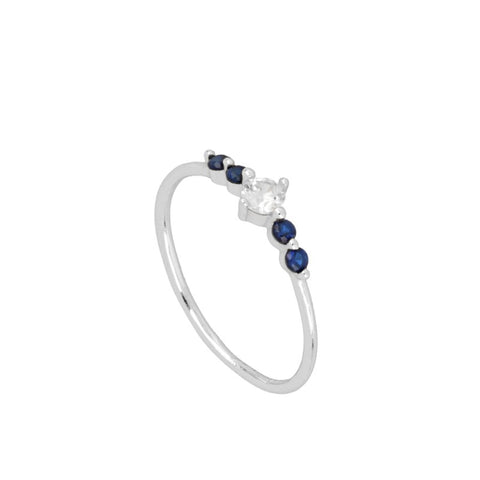 Anillo blue light Silver