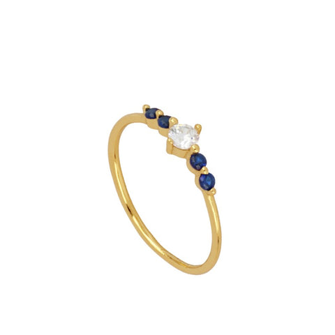 Anillo blue light Gold