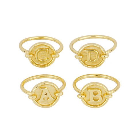 Anillo Initial Gold