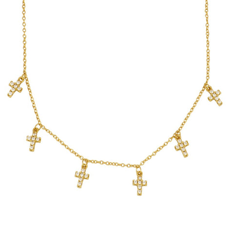 Gargantilla Multi Cross Gold