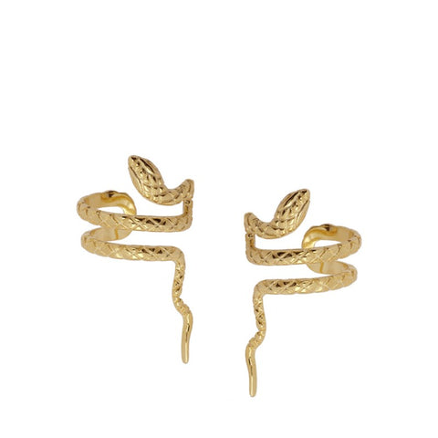 Pendientes Snake Ear Cuff Gold