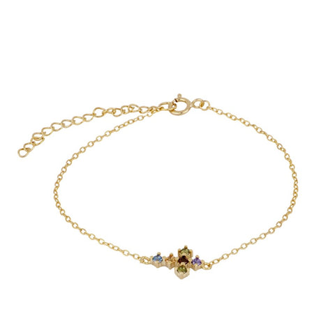 Pulsera Rainbow Cross Gold