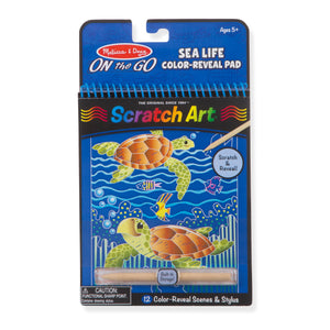 Sealife Color-Reveal Scratch Art Pad