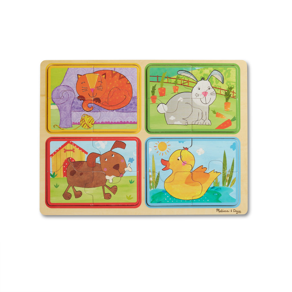 NP Wooden Puzzle: Playful Pals