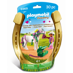 Playmobil - Groomer with Heart Pony 6969