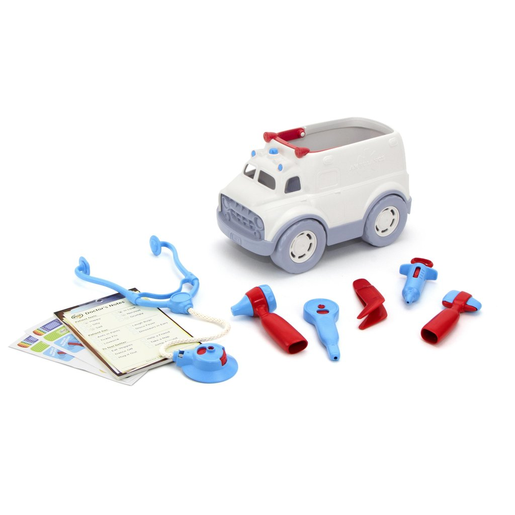 GREEN TOYS - AMBULANCE & DOCTOR KIT