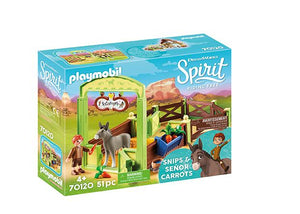 Playmobil - Spirit Snips & Señor Carrots with Horse Stall 70120