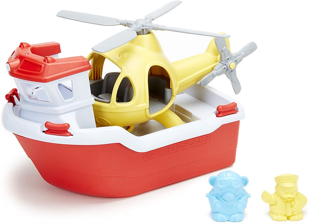 GREEN TOYS - BOAT AND HELICOPTER