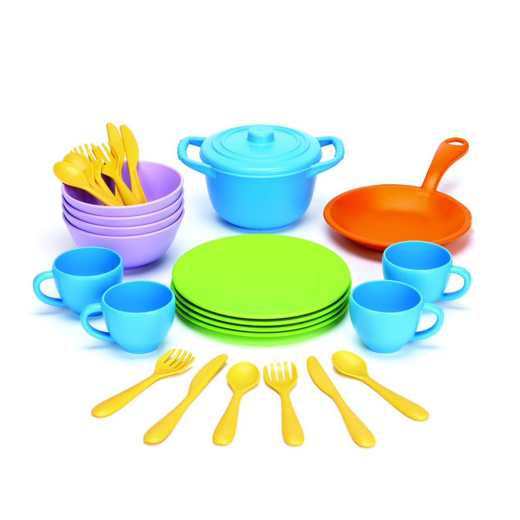 GREEN TOYS - COOKWARE AND DINING SET