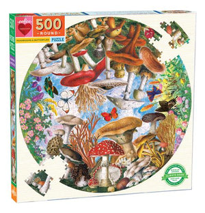 MUSHROOMS AND BUTTERFLIES 500PC