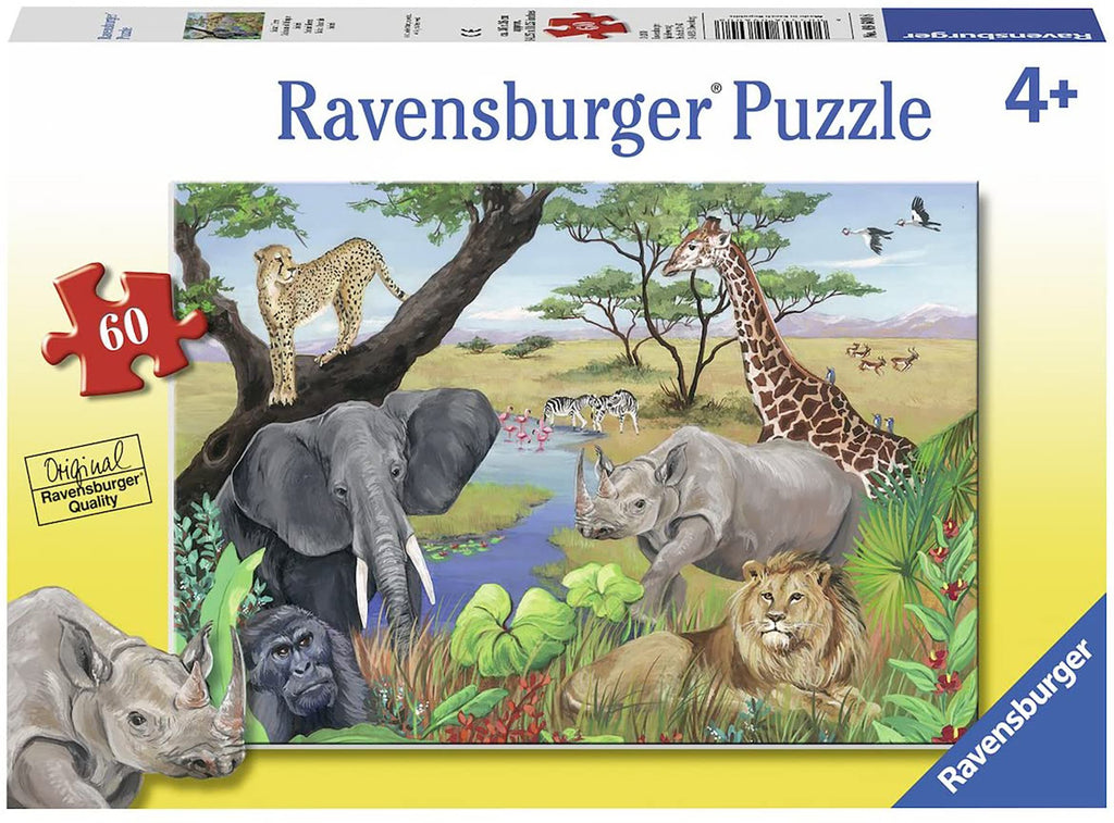 SAFARI ANIMALS 60 PC
