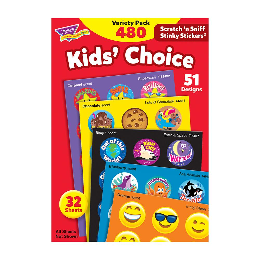 KIDS CHOICE VARIETY STICKERS