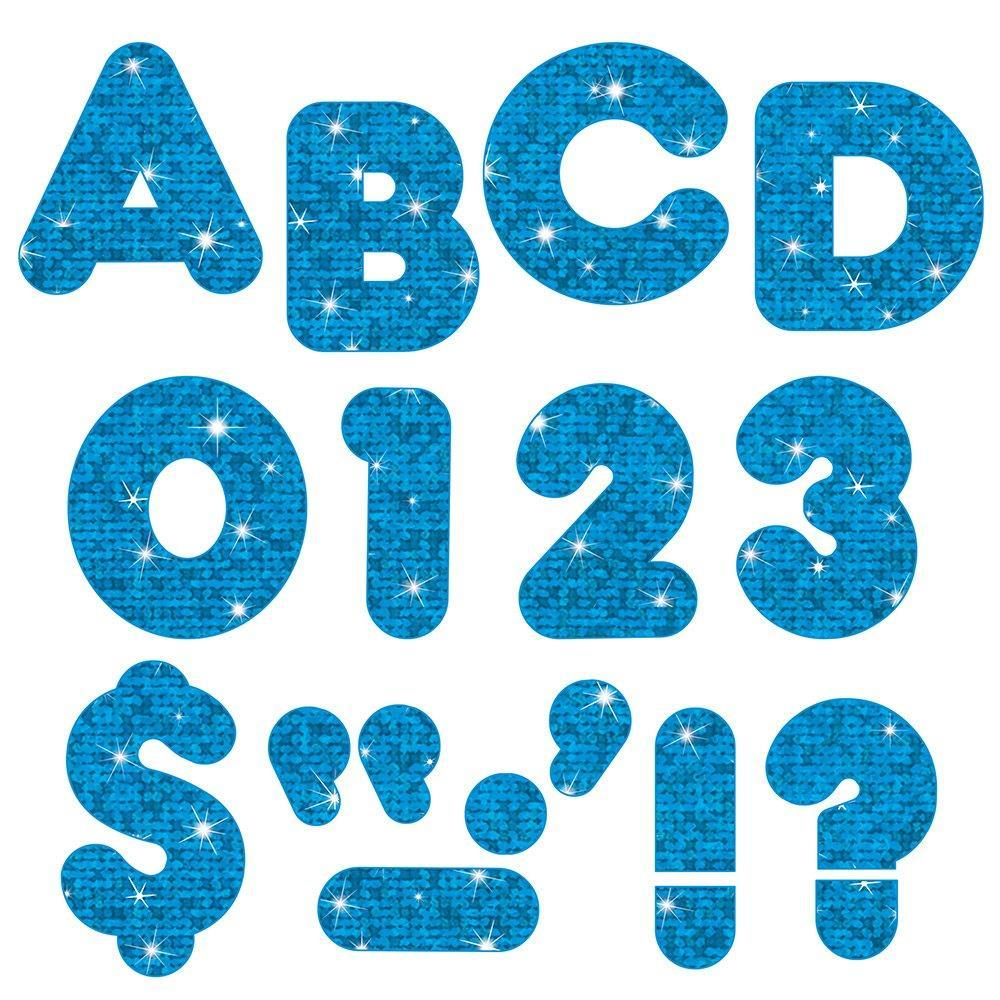 "4"" CASUAL BLUE LETTERS"