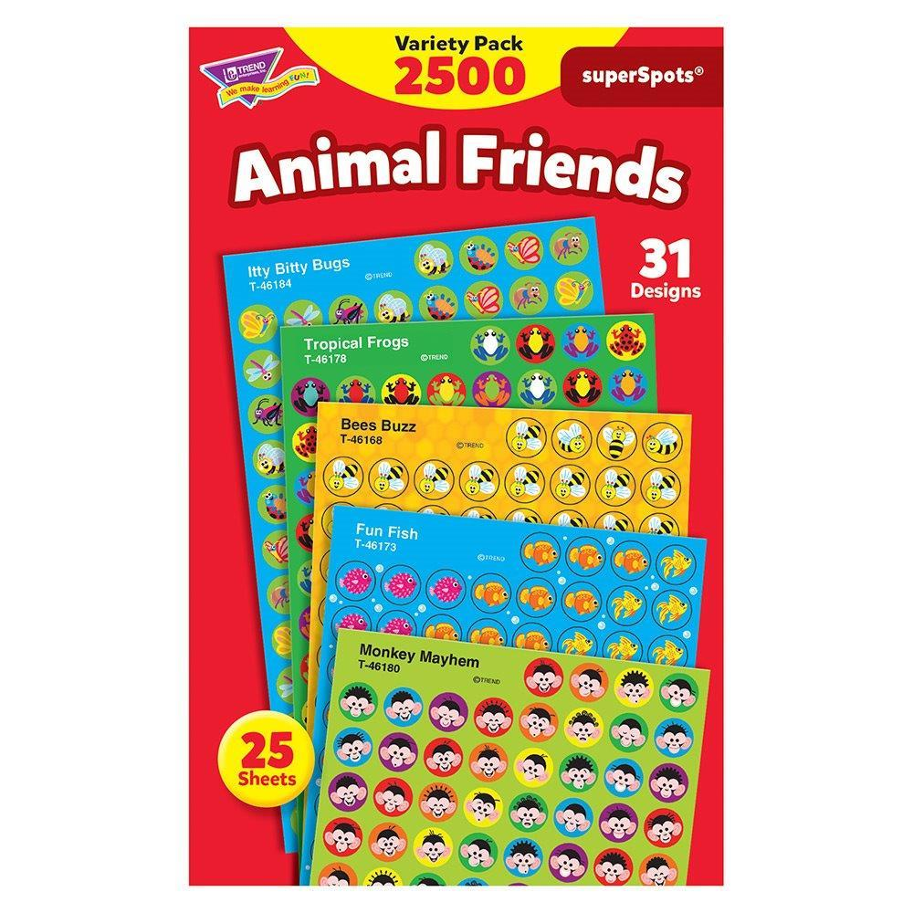 2500 ANIMAL FRIENDS STICKERS