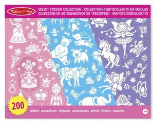 VELVET STICKER COLLECTION PINK