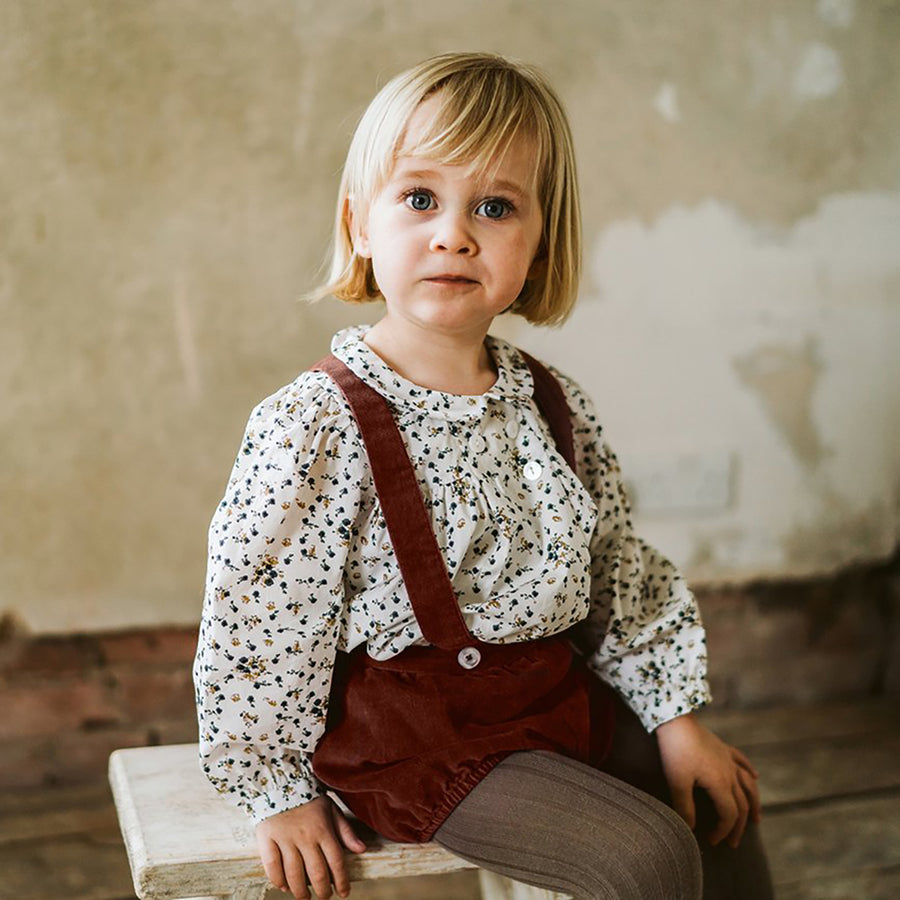Little Cotton Clothes :: Hastings Romper - Clay Velvet