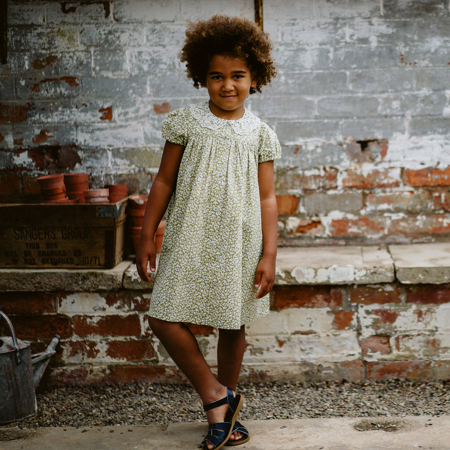 Little Cotton Clothes :: Alma Dress Blossom Floral Samphire