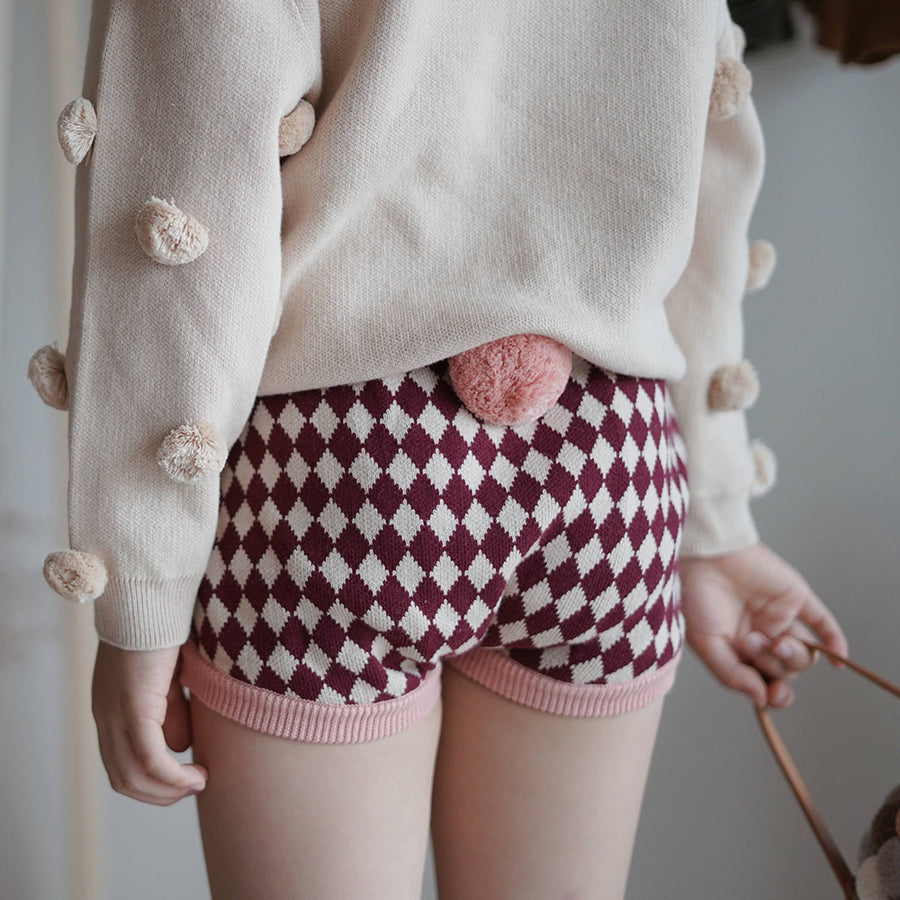 Mes Kids Des Fleurs :: Diamond Pattern Shorts Pink (10월초배송)