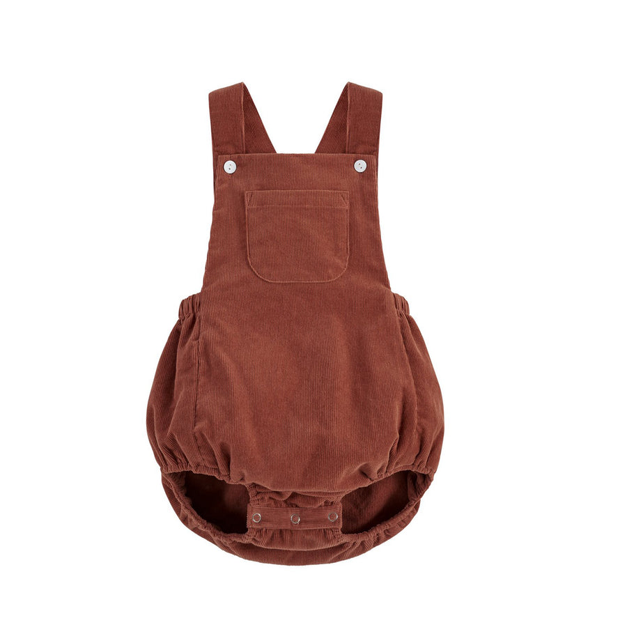 Little Cotton Clothes :: Whitby Romper - Clay Corduroy