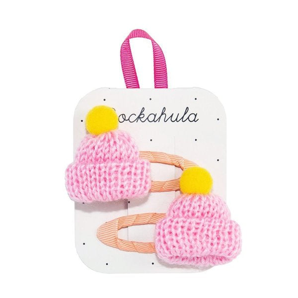 Rockahula :: Knitted Bobble Hat Clips