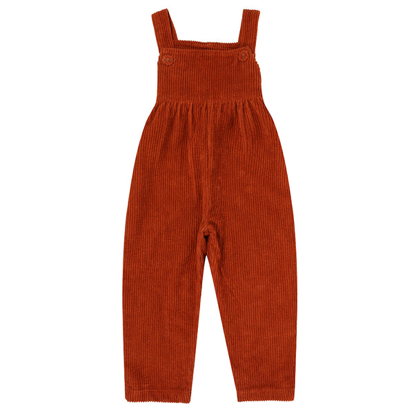 Margo Dungarees Rust Chunky Cord