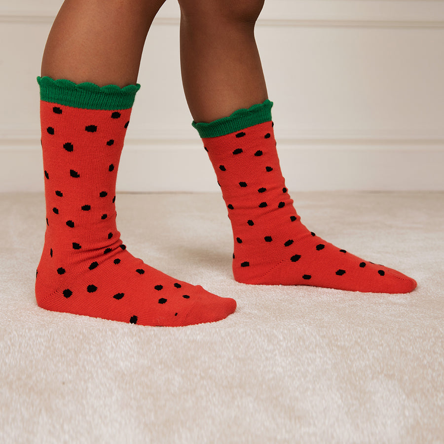 Mini Rodini :: Strawberry Scallop Socks