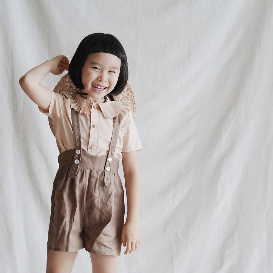 Mes Kids Des Fleurs :: Pleated Collar Shirt Apricot