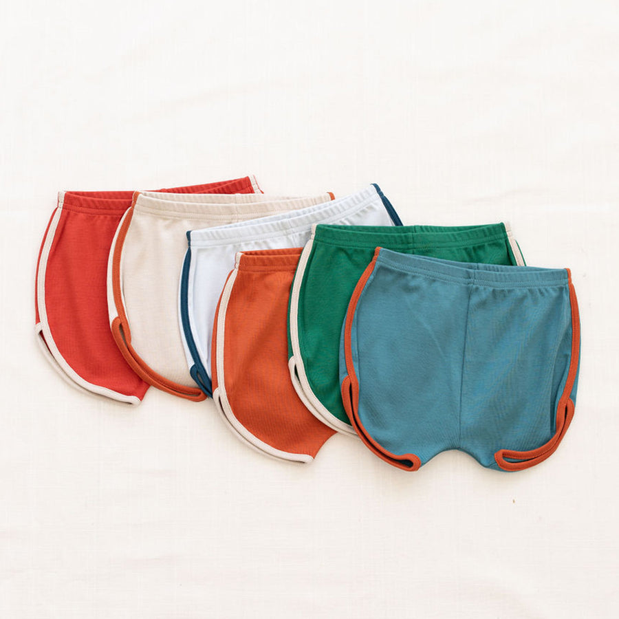 Fin And Vince :: Vintage Track Shorts Solid Colors Cornflower