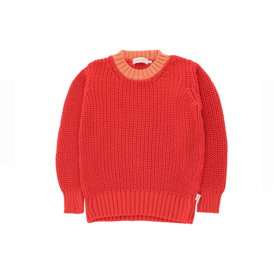 Tiny Cottons :: Color Block Sweater Red