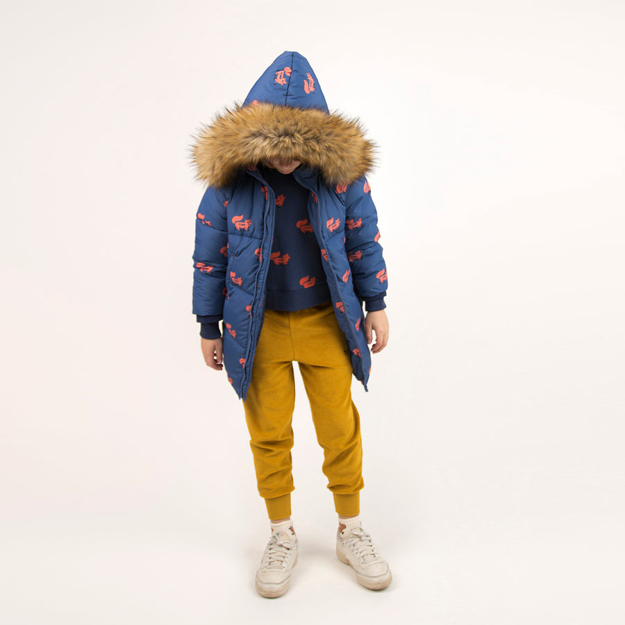 Tiny Cotton :: Foxes Padded Jacket Light Navy/Sienna