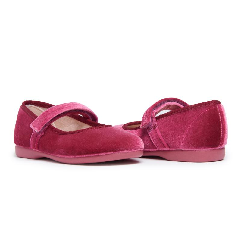 [Pre-Order] Childrenchic :: Classic Lipstic Velvet Mary Janes