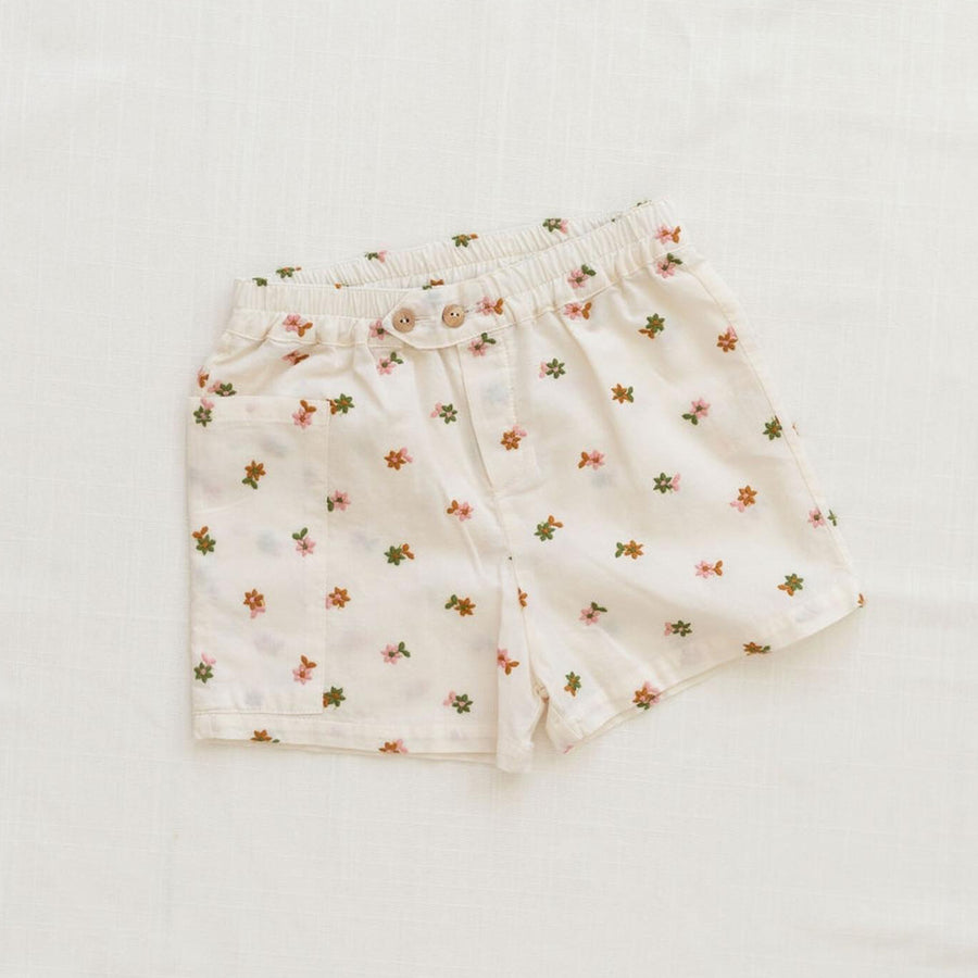 Fin And Vince :: Retro Short Embroidered Floral