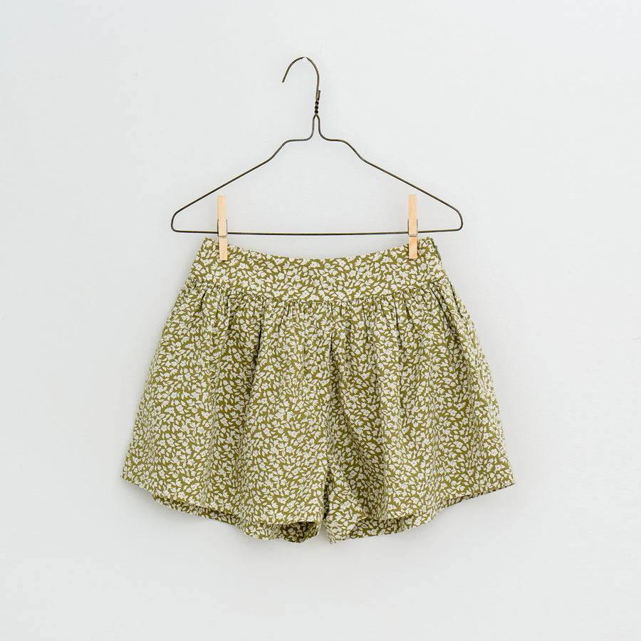 Little Cotton Clothes :: Joanie Shorts Blossom Floral Samphire