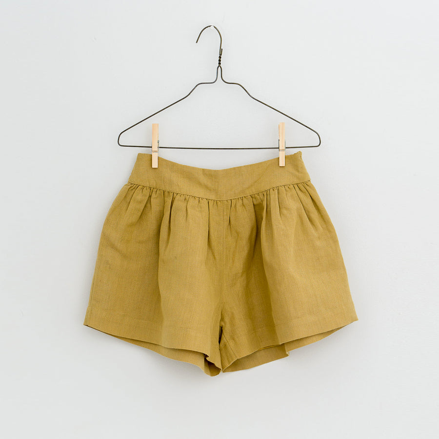 Little Cotton Clothes :: Joanie Shorts Mustard Linen