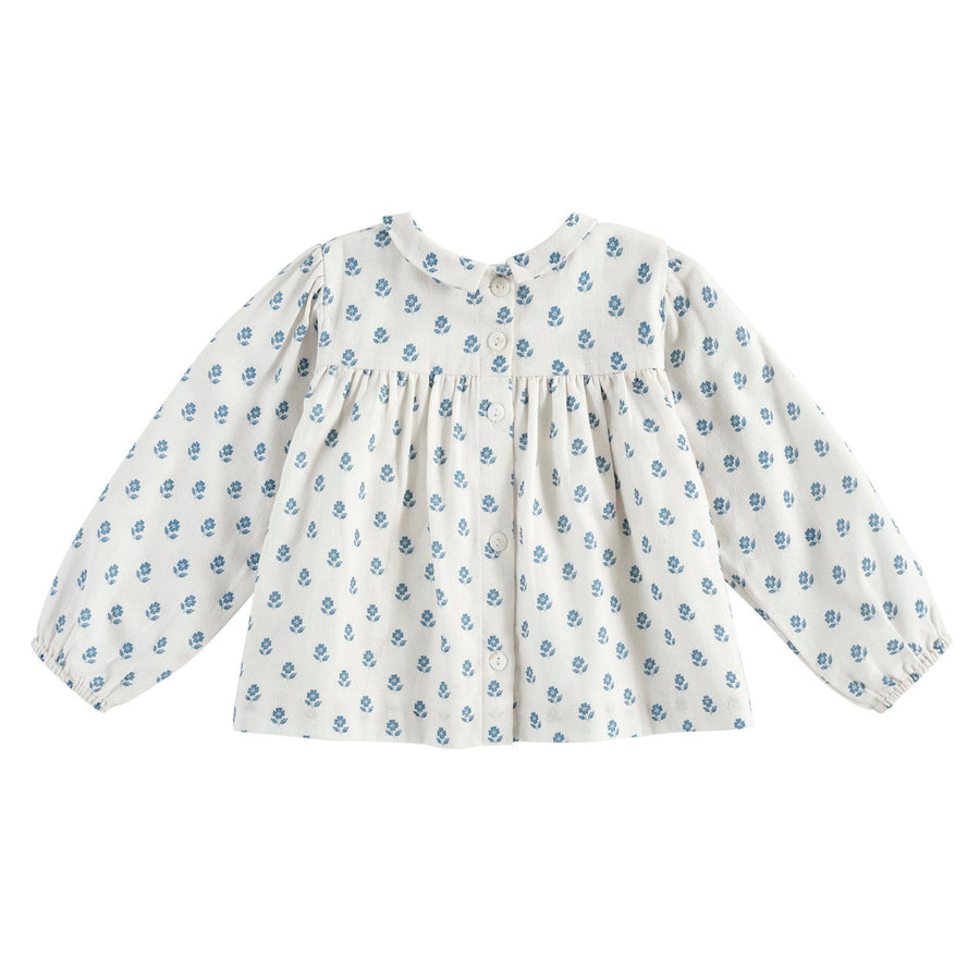 Little Cotton Clothes :: Emma Blouse Upsy Daisy Floral Off White