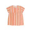 Retro Stripes SS Dress Terracotta / Cream
