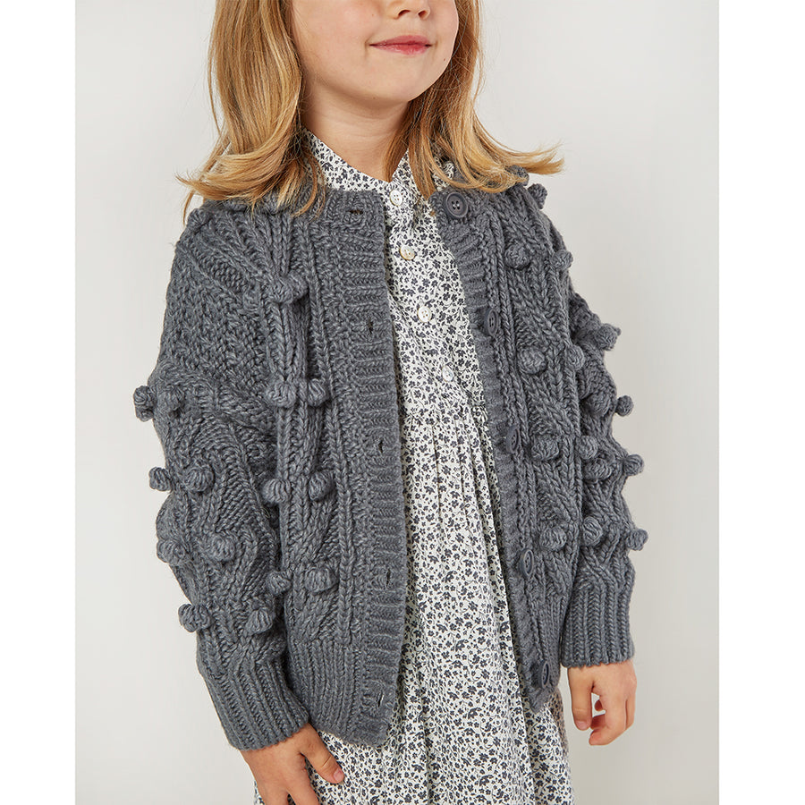 Rylee & Cru :: Bobble Cardigan Washed Indigo