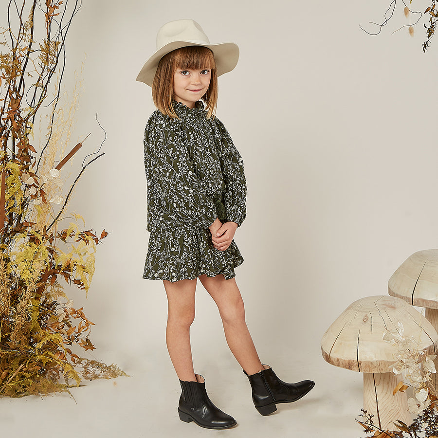 Rylee & Cru :: Vines Audrey Blouse Forest