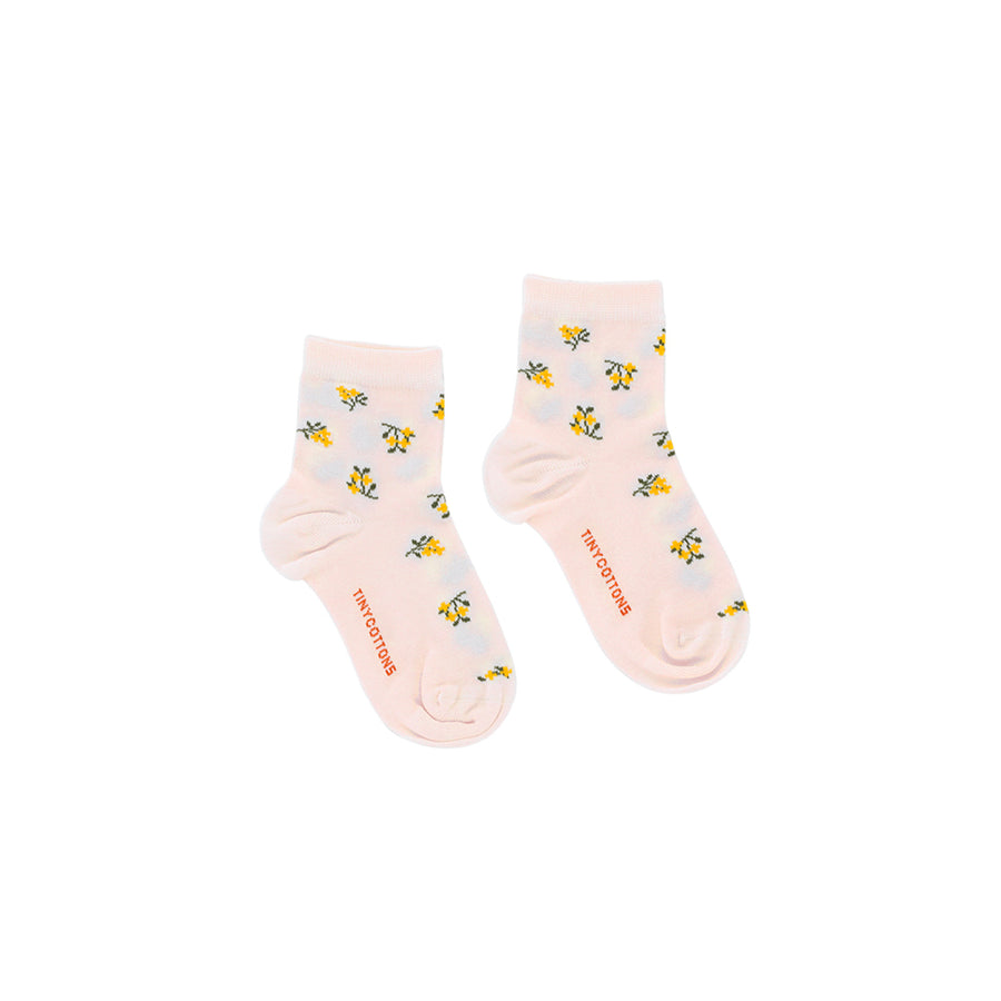 Tiny Cottons :: Tiny Flowers Quarter Socks Pastel Pink