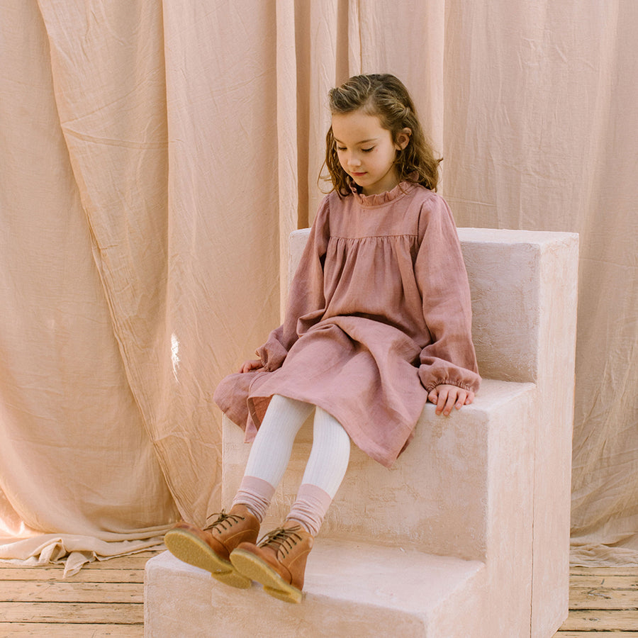 Nelli Quats :: Marbles Dress Dusty Rose Linen