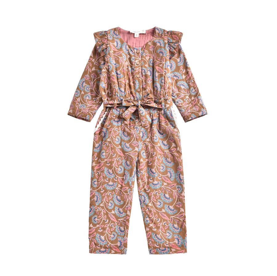 Louise Misha :: Alila Jumpsuit Bronze Folk Flowers