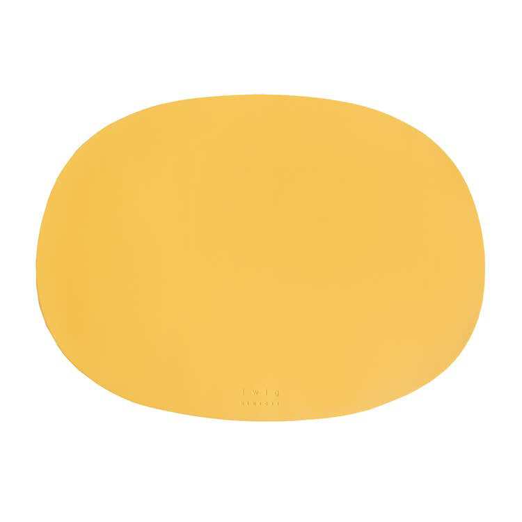 Twig NY :: Oval Table Mat Yellow