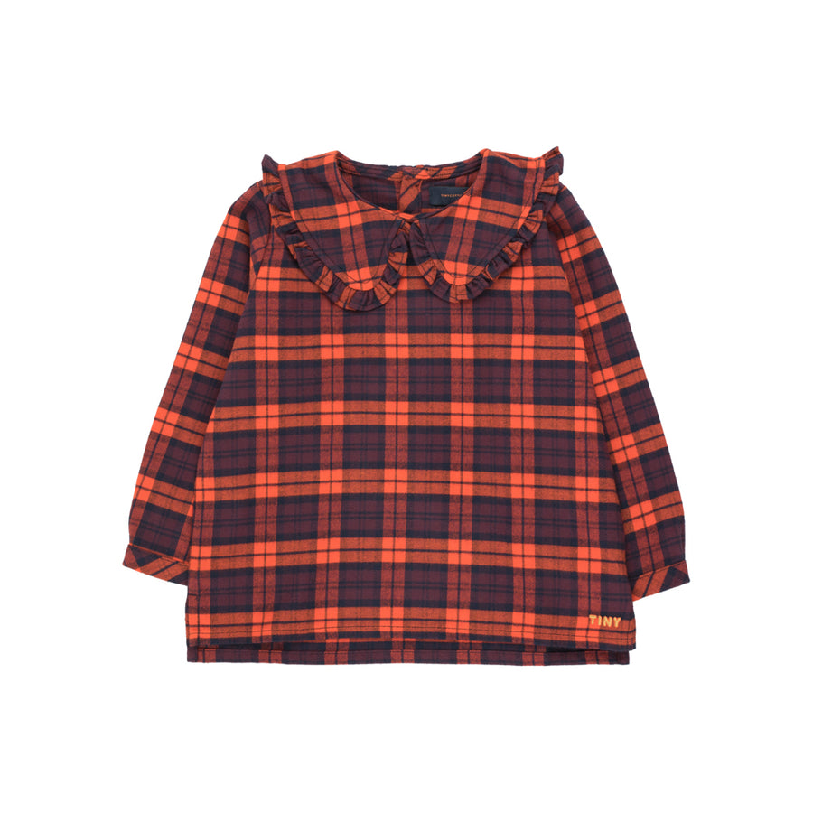 Tiny Cotton :: Check Shirt Navy/Red
