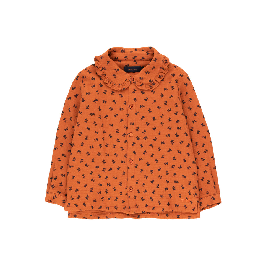 Tiny Cotton :: Tiny Flowers Shirt Sienna/Navy