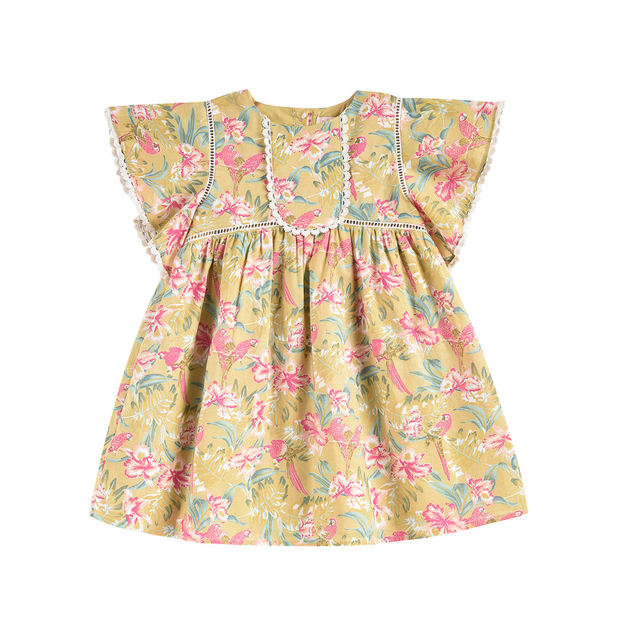 Louise Misha :: Christina Soft Honey Parrots Dress