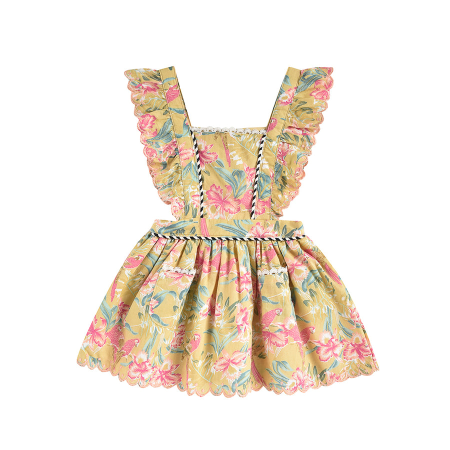 Louise Misha :: Mistinguette Soft Honey Parrots Dress