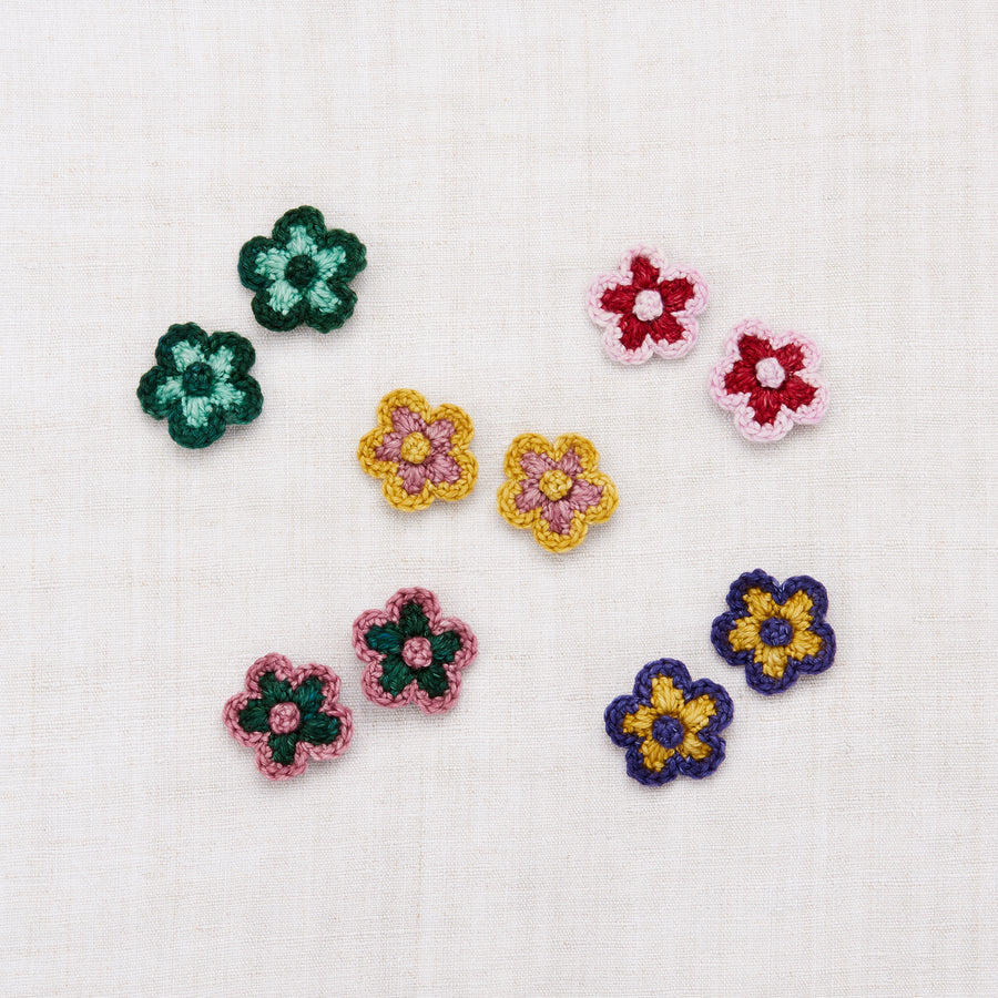 Misha And Puff :: Medium Flower Clip Set Berry/Lilac