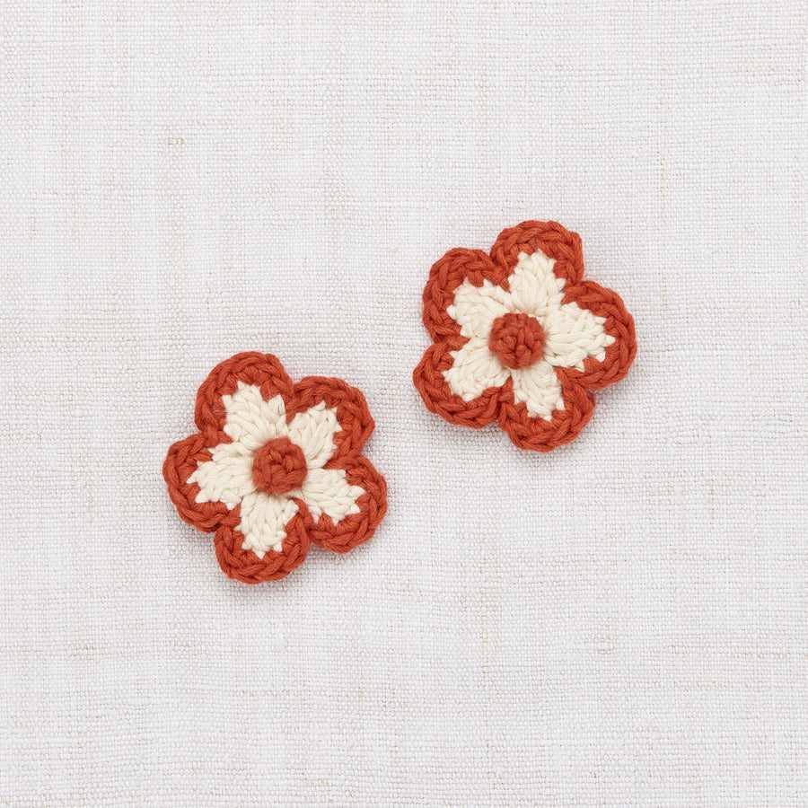 Misha and Puff :: Medium Flower Clip Set Paprika