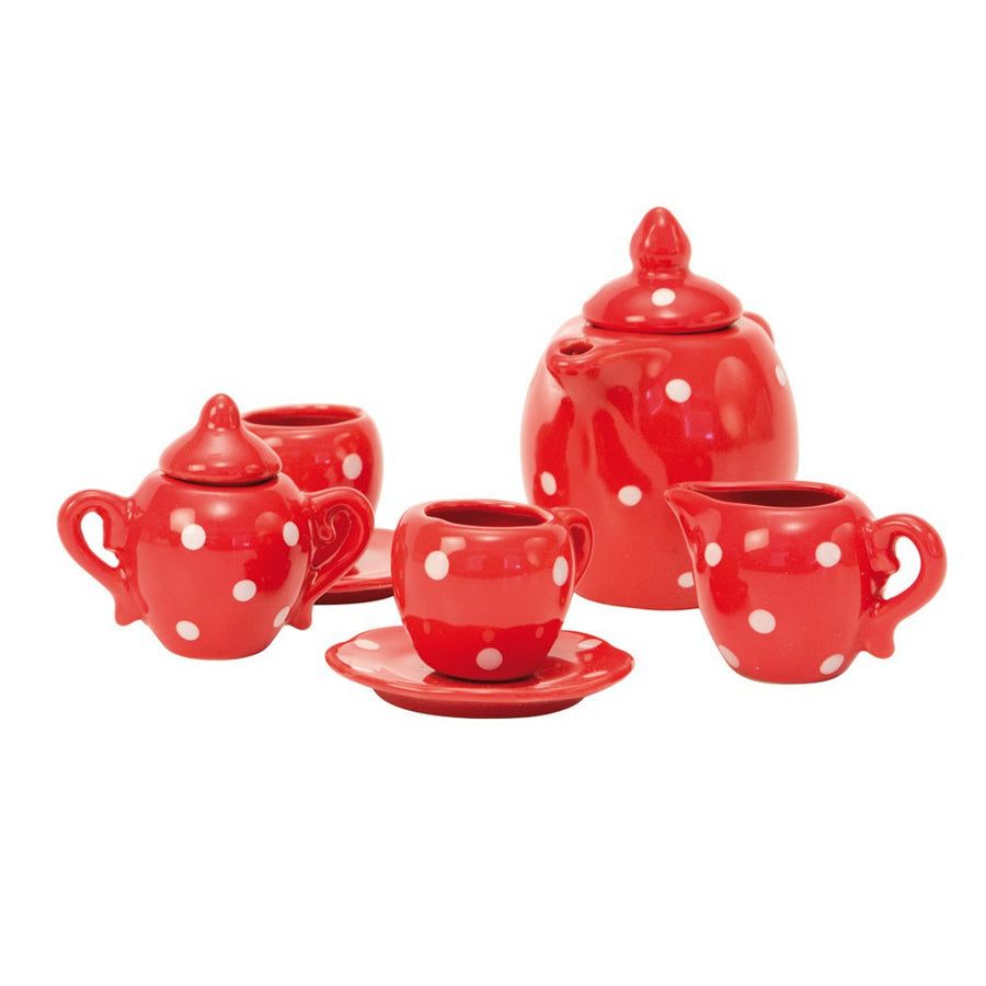 Moulin Roty :: Red Ceramic Tea Set
