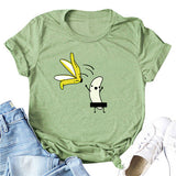Casual Women Cotton T-Shirt Cartoon Print Short Sleeve Summer Funny T shirts O-Neck Cute 5XL Plus Size T- Shirt Tops